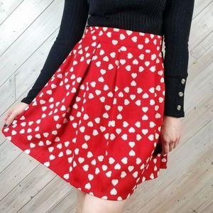 Modcloth | Compania Fantastica Retro Heart Skirt